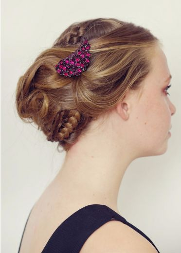 Pink Electra Brooch and Hairclip