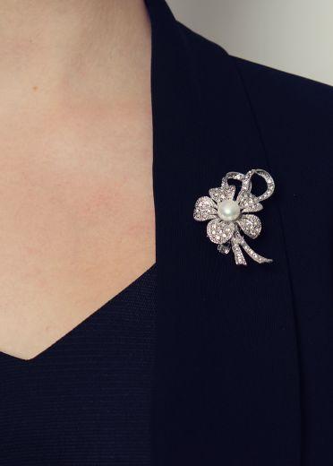 Pearl Flower Hairclip & Brooch