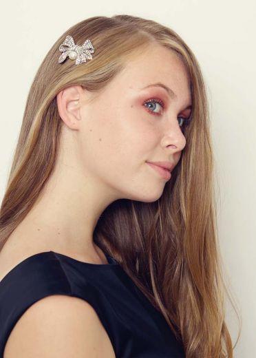 Pearl Bow Hairclip & Brooch