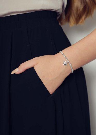 Freshwater Grey Pearl Star Bracelet