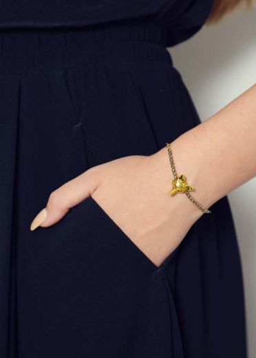 Pyrite Fox Chain Bracelet