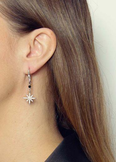 Cafe Noir Agate Star Earrings