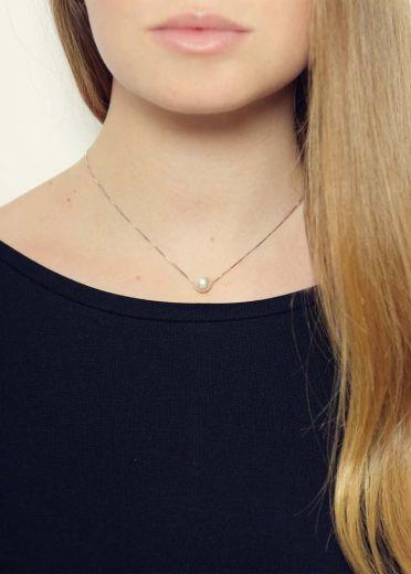 Victoria Pearl Silver Necklace