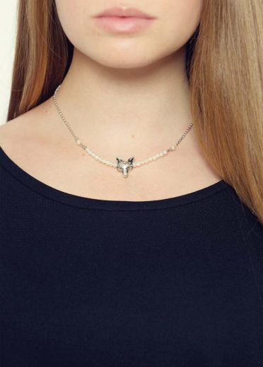 Freshwater Pearl Fox Bar Necklace