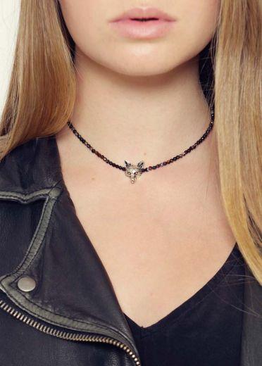 Cafe Noir Fox Agate Necklace