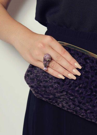 Lavender Owl Stretch Ring
