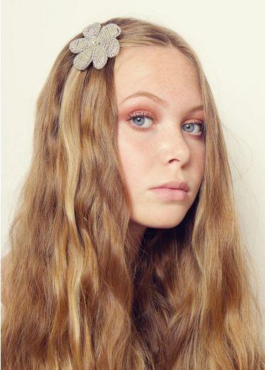 Crystal Beaded Blossom Hair Clip