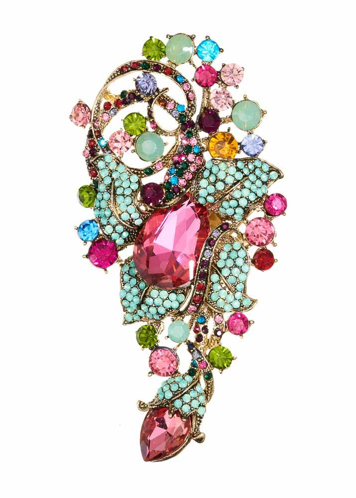 Opal Rainbow Bouquet Hairclip & Brooch