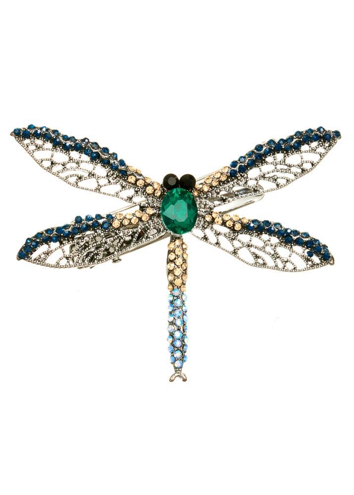 Aqua Dragonfly Hairclip & Brooch