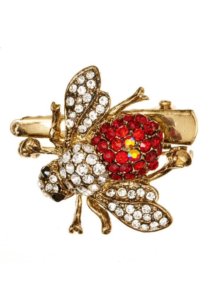Royal Bee Hairclip & Brooch