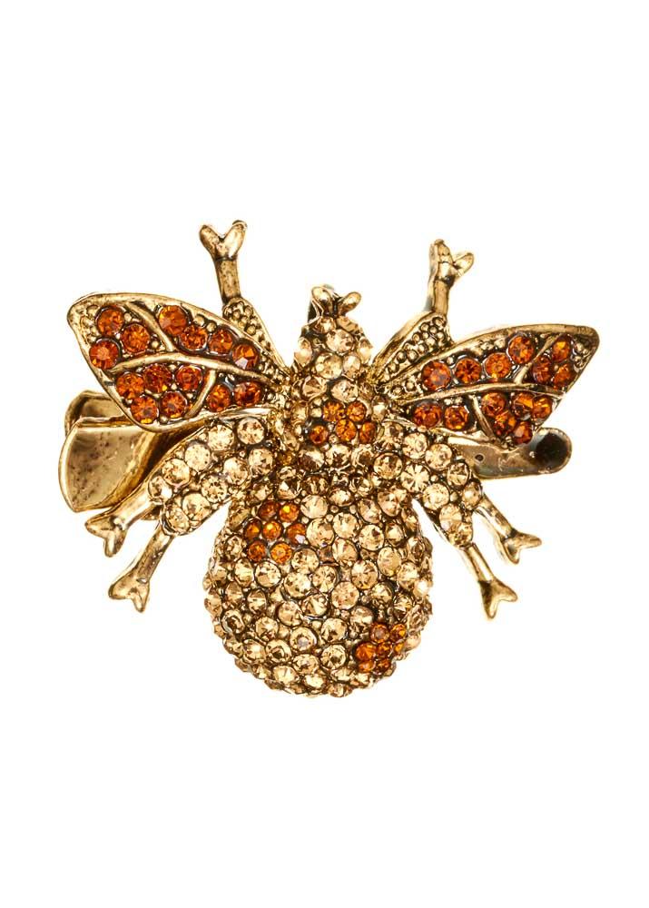 Golden Bee Hairclip & Brooch