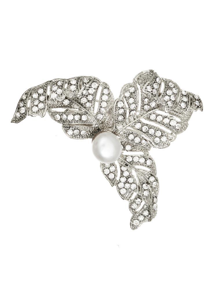 Pearl Leaf Hairclip & Brooch