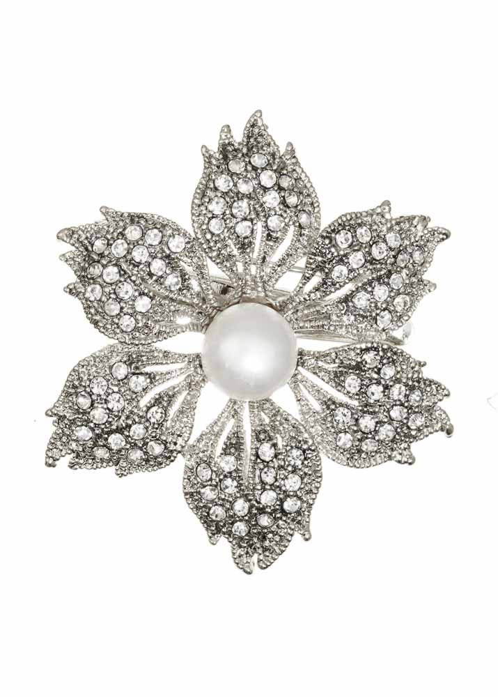 Pearl Starburst Hairclip & Brooch