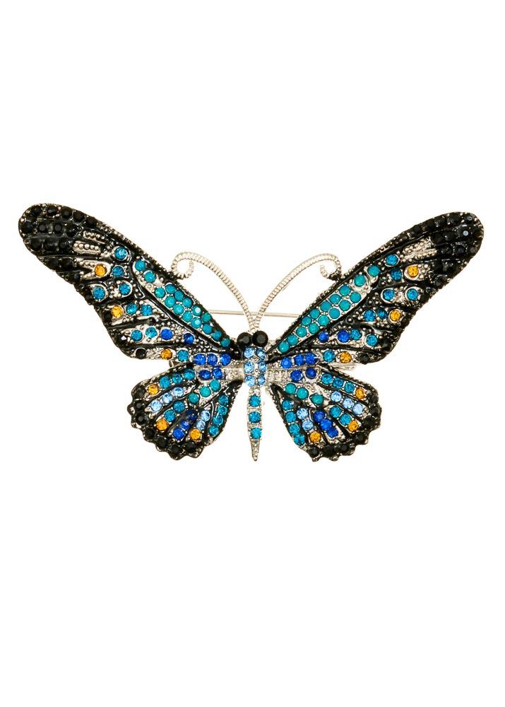 Ocean Crystal Butterfly Hairclip & Brooch