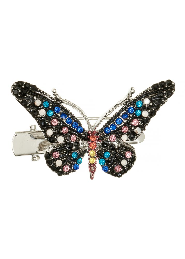 Mini Rainbow Butterfly Hairclip & Brooch