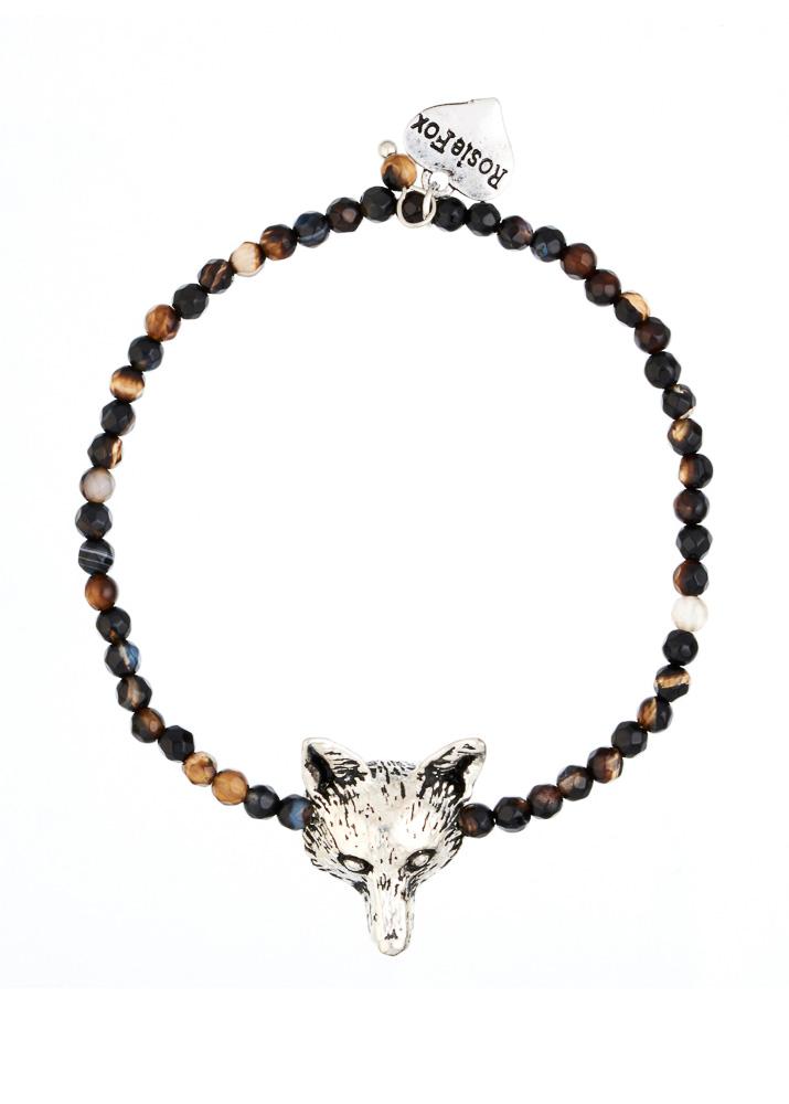 Cafe Noir Fox Agate Bracelet