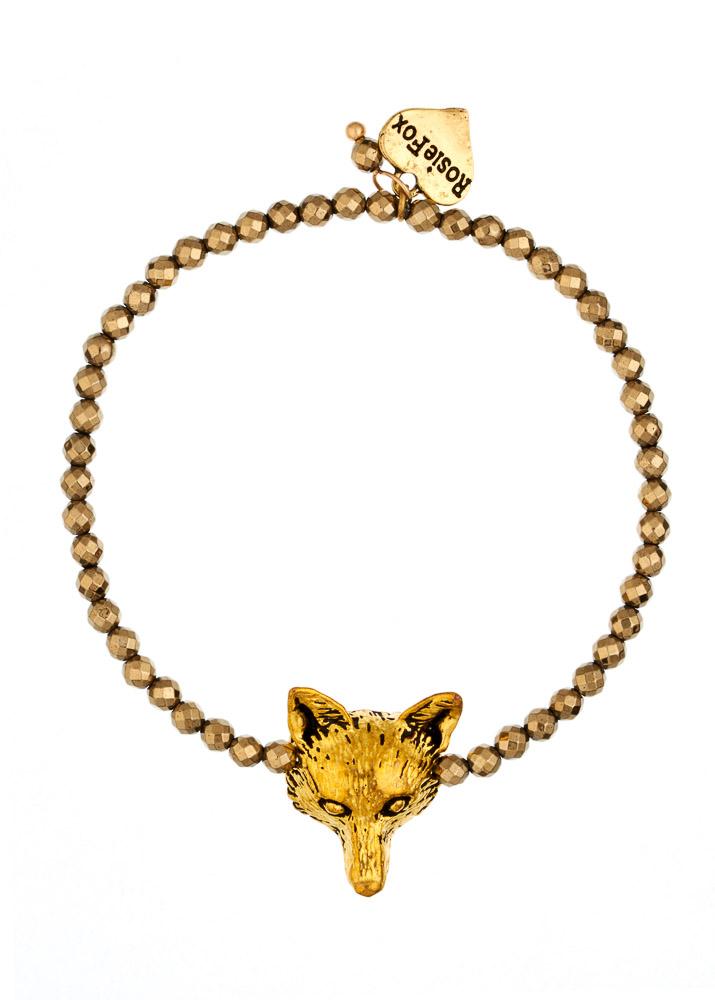 Pyrite Fox Bracelet