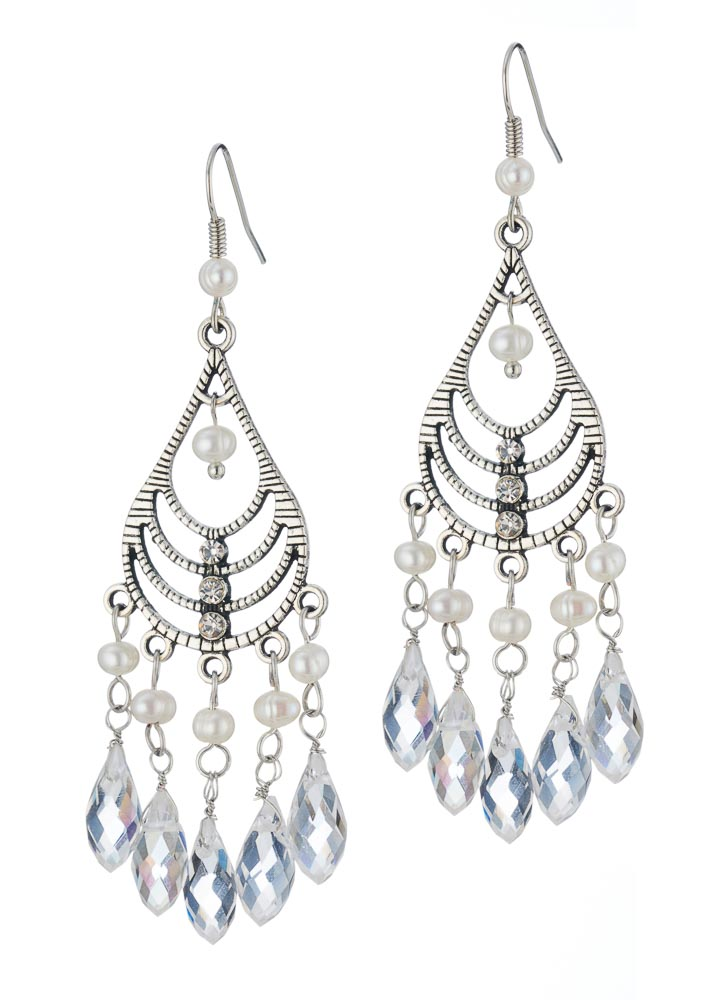 Freshwater Pearl Chandalier Earrings