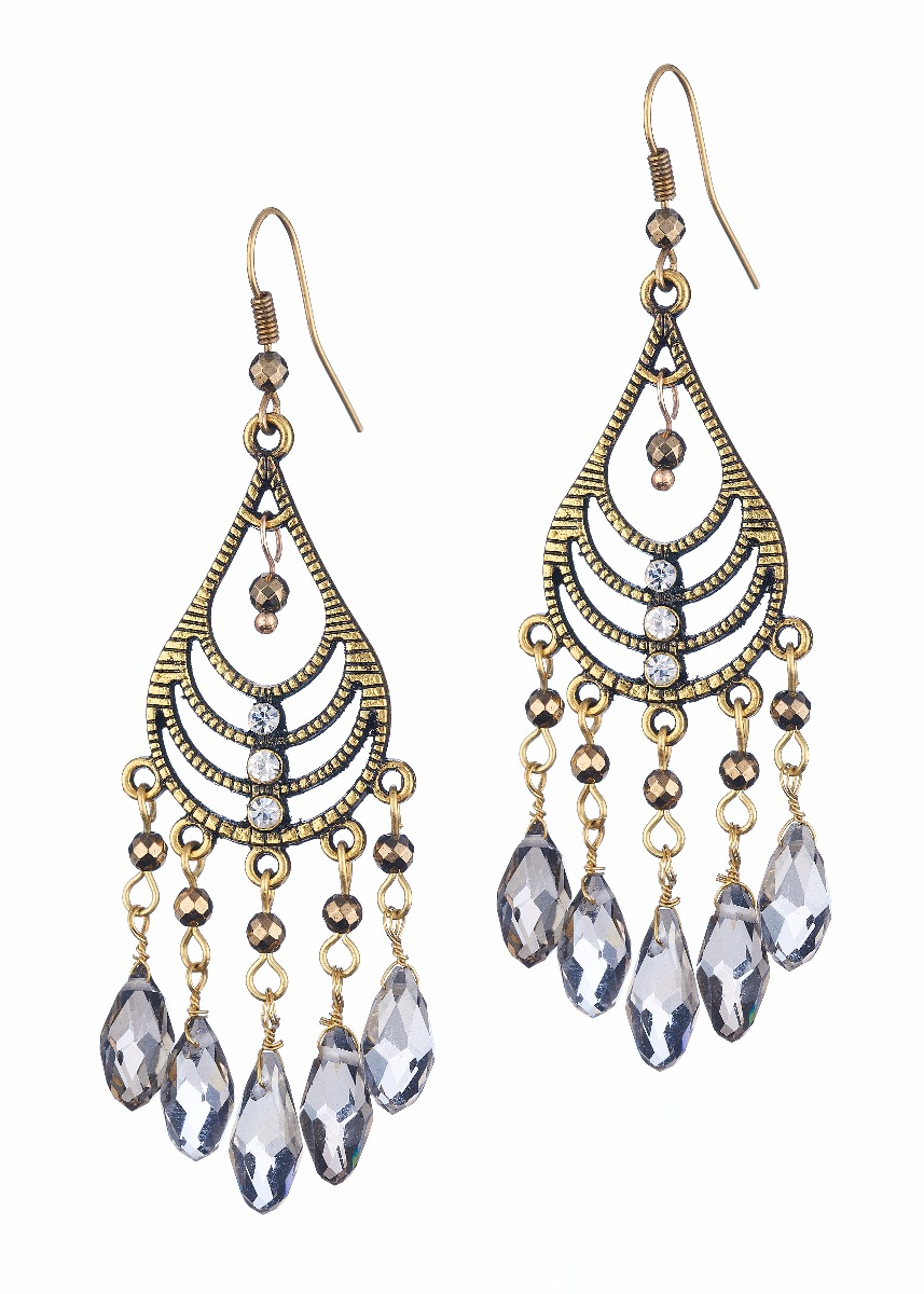 Pyrite Chandalier Earrings