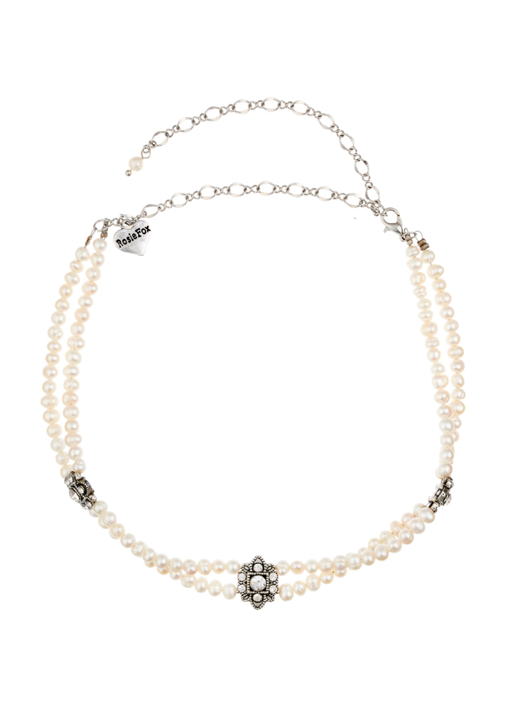 Freshwater Pearl & Crystal Choker