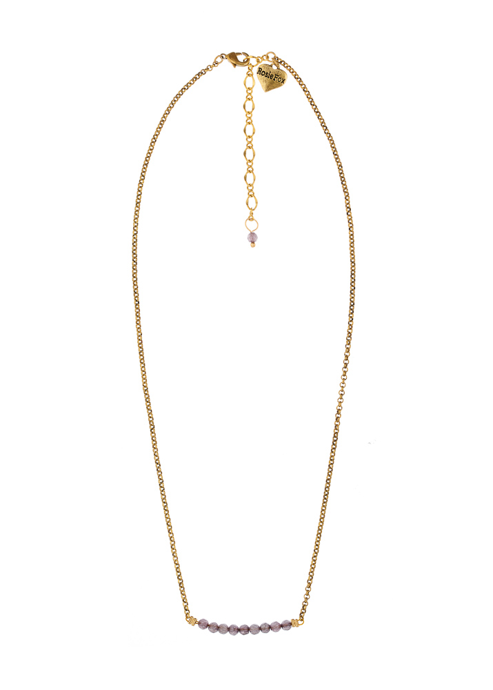 Dove Agate Bar Necklace