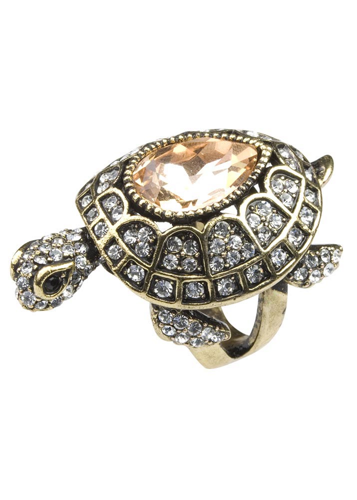 Crystal Turtle Ring
