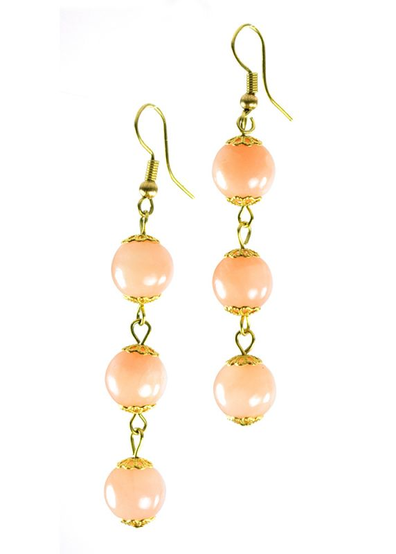 earrings peach listing bridesmaid champagne stone il