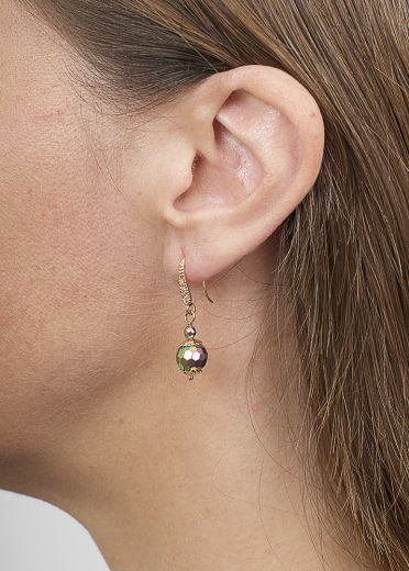 Blush Pyrite Ball Earrings