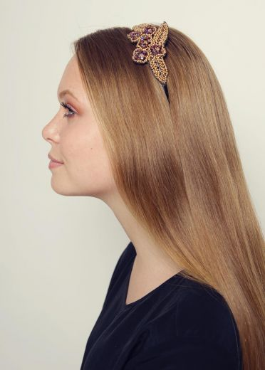 Golden Lilacs Hairband