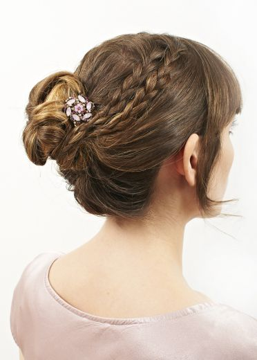 Rose Crystal Flower Hair Clip and Brooch