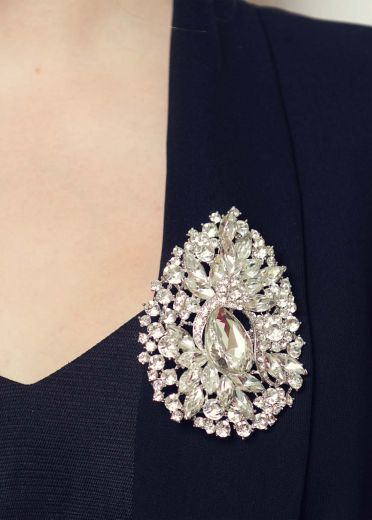 Art Deco Crystal Hairclip & Brooch