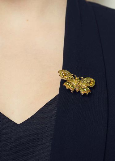Amber Butterfly Hairclip & Brooch
