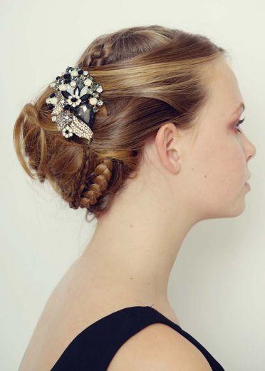 Opal Jet Bouquet Hairclip & Brooch