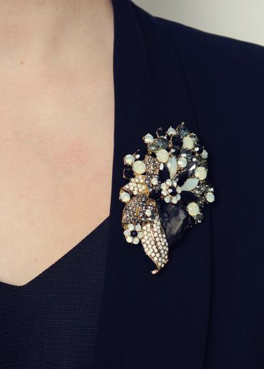 Opal Jet Bouquet Hairclip & Brooch