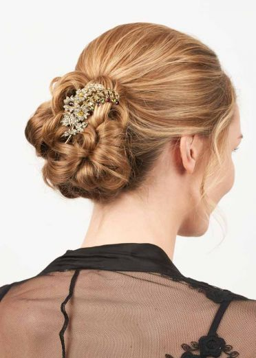 Gold Crystal Bouquet Hairclip & Brooch