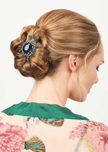 Opal Turtle Hairclip & Brooch