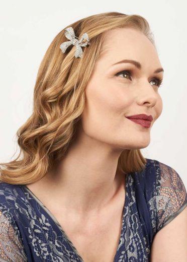 Crystal Bow Hairclip & Brooch