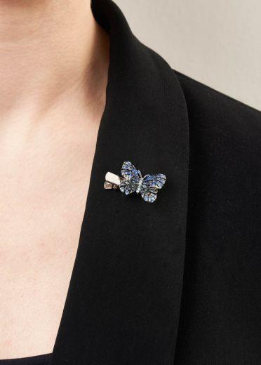 Electric Blue Mini Butterfly Brooch