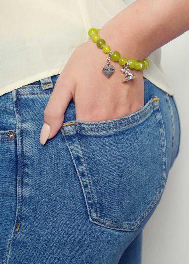 Olive Agate Single Bracelet