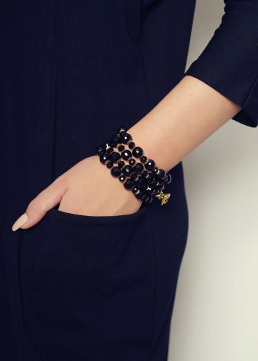 Jet Multi Strand Stretch Cuff