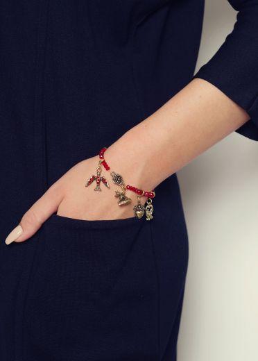 Ruby Charm Bracelet