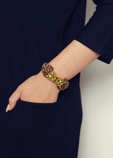 Gold Lion Cuff