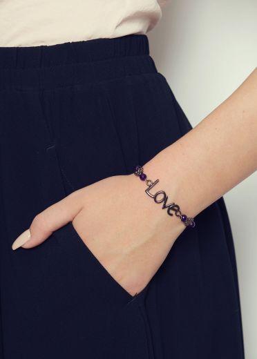 Amethyst Love Bracelet