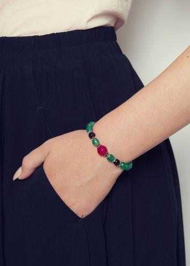 Emerald Agate Gemstone Bracelet