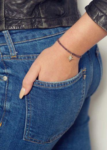 Dove Agate Star Bracelet