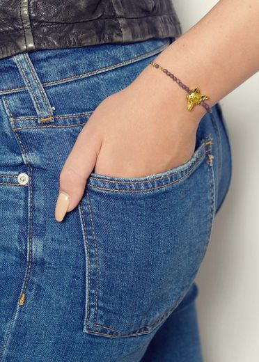 Dove Agate Fox Chain Bracelet