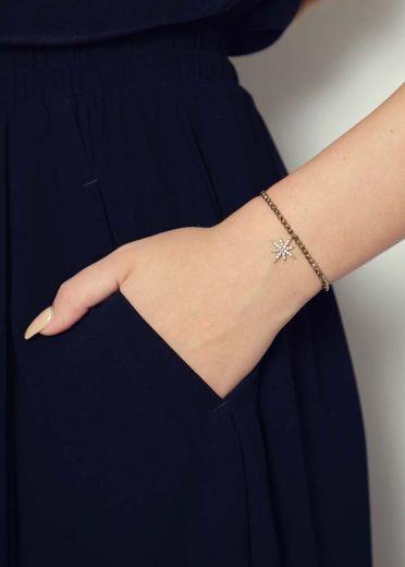 Pyrite Star Bracelet