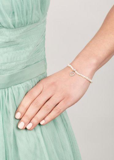 Ivory Freshwater Pearl Heart Bracelet