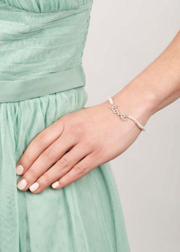 Ivory Freshwater Pearl Love Bracelet