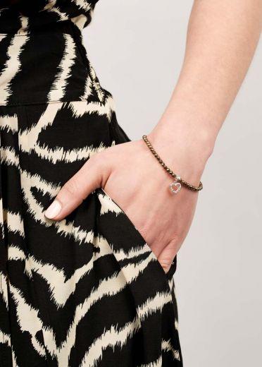 Pyrite & crystal Heart Bracelet